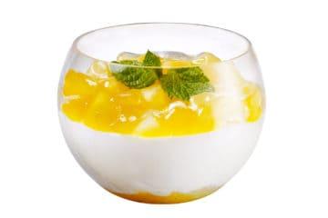 Dessert de saison, hiver: mangue – yogourt